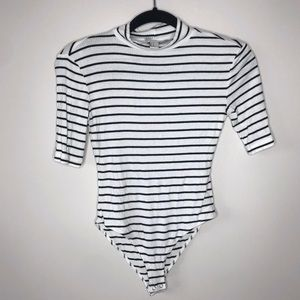 NEW Ribbed Striped Bodysuit